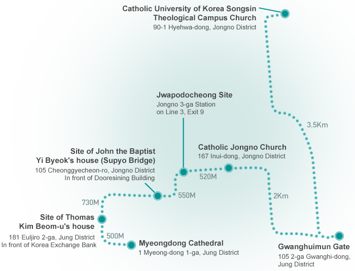 A map of the Gospel Trail