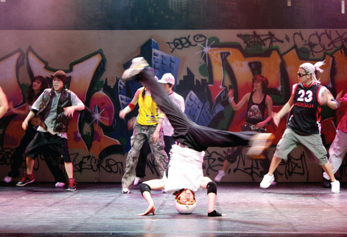 "The Ballerina in Love with the B-boy With its dynamic break dancing performance, 'The Ballerina in Love with the B-boy' has made its way to the stage of Off Broadway Theatre. This performance, which features no dialogue, revolves around the B-Boy World Champions and victors of the 2007 Battle of the Year ""Extreme Crew."""