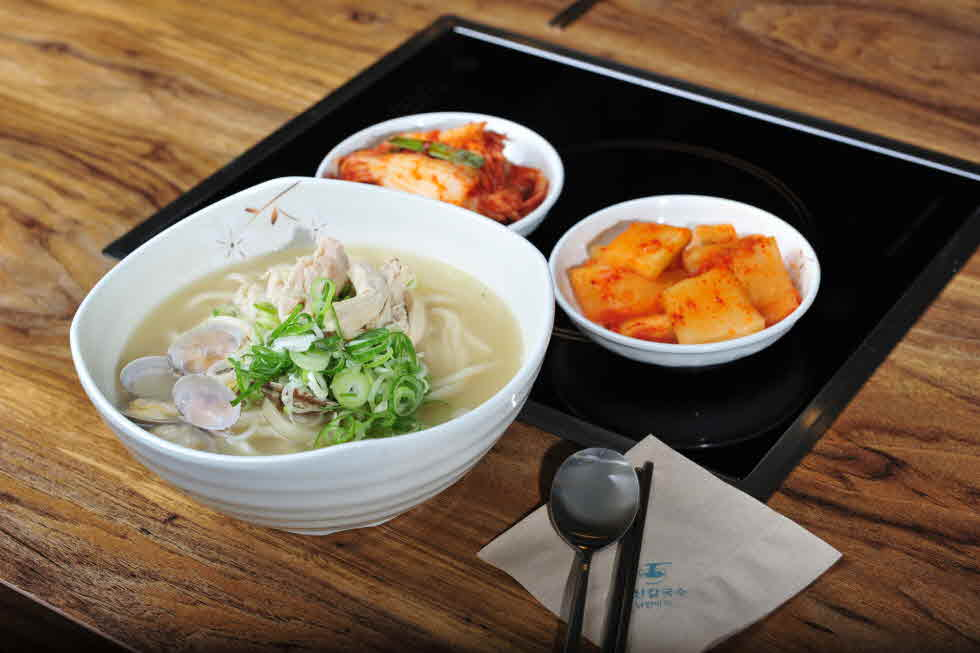 kalguksu will be served with bowl for one person.