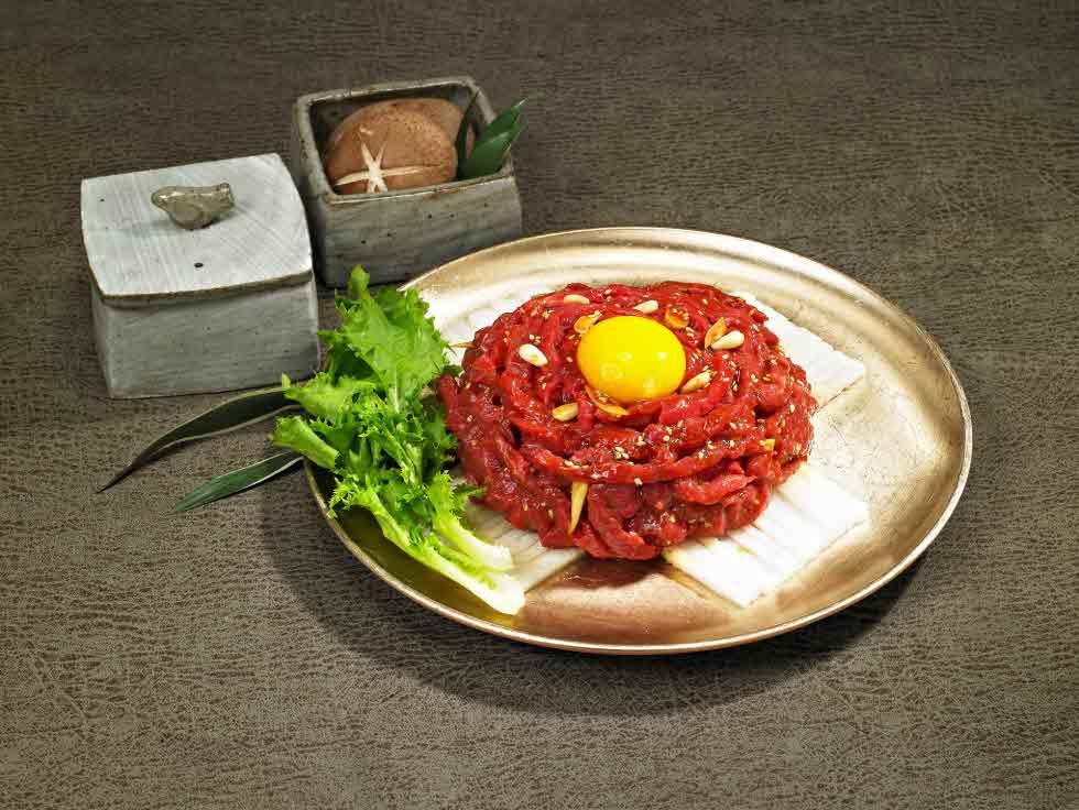 Premium beef tartare